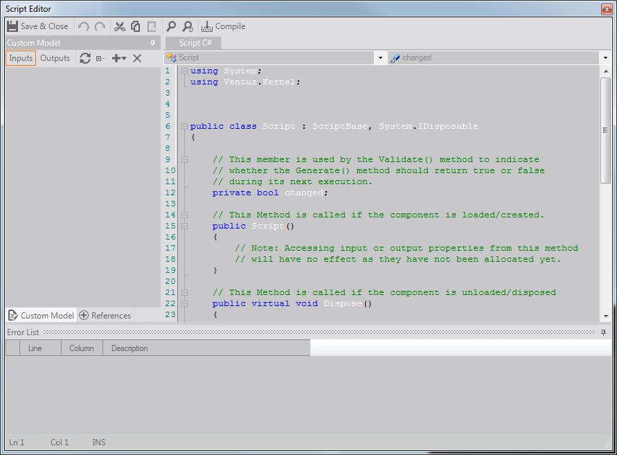 User Manual - C# / VB Scripts