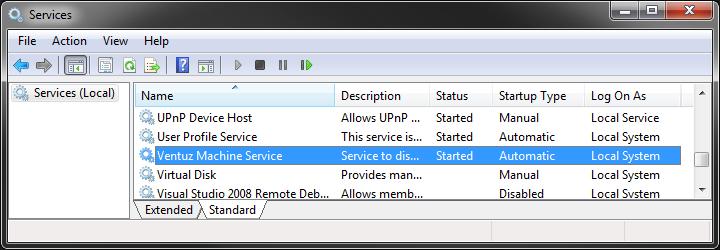 User Manual - Ventuz Machine Service
