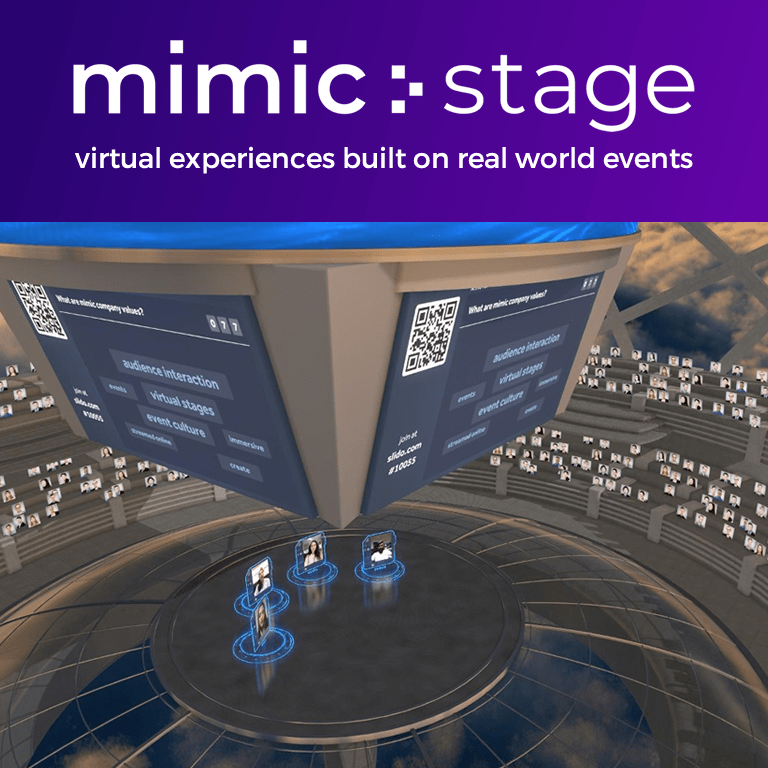 mimic virtual event made with ventuz eventagrate